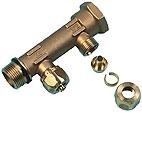 """Uponor Aqua PLUS fordelerrør PEX WTR DR G3/4""""MT/FT 2X15 c/c5"""