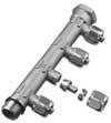 """Uponor Aqua PLUS fordelerrør PEX WTR DR G3/4""""MT/FT 4X15 c/c5"""