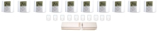Gulvvarmepakke 10 kredse (uden fordelerrør)