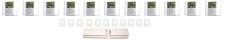 Gulvvarmepakke 11 kredse (uden fordelerrør)