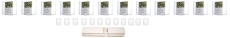 Gulvvarmepakke 12 kredse (uden fordelerrør)