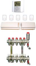 Gulvvarmepakke 6 kreds (med fordelerrør)