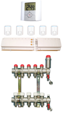 Gulvvarmepakke 8 kreds (med fordelerrør)