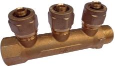 """AO Fordeler rør 3-vejs muffe/nippel 3/4"""" x 15 mm"""