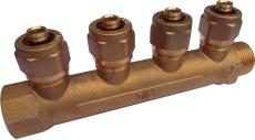 """AO Fordeler rør 4-vejs muffe/nippel 3/4"""" x 15 mm"""