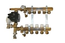 Kvikshunt Gulvvarmesystem 4 kredse. Inkl. UPM3 15/70 pumpe