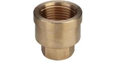 "1/2"" x 3/8"" Form. muffe Rødgods Silicium Bronze"