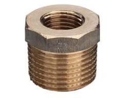 """1.1/4"""" x 3/4"""" Nippelmuffe Rødgods Silicium Bronze"""