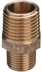 "3/4 x 3/8"" Rødgods Silicium Bronze reduktionsnippel"