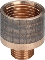 "1/8"" x 1/4"" Rødgods Silicium Bronze gevindfittings reduktion"
