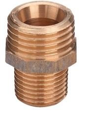 """3/4"""" x 1/2"""" Rødgods Silicium Bronze overgangsnippel"""