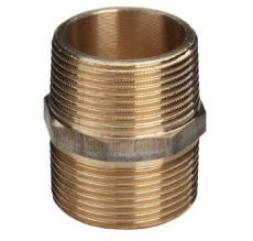 "3/4"" Brystnippel Rødgods Silicium Bronze"