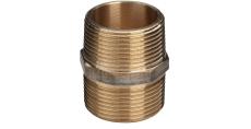 "1.1/4"" Brystnippel Rødgods Silicium Bronze"