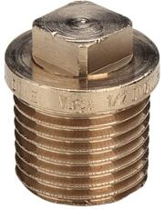 """1"""" Rødgods Silicium Bronze gevindfittings prop"""