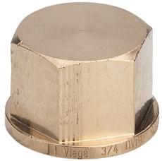 """1/4"""" Rødgods Silicium Bronze gevindfittings slutmuffe"""
