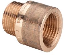 """3/4"""" x 40 mm Haneforlænger Rødgods Silicium Bronze"""