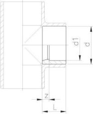63 x 50 mm PVC reduktion