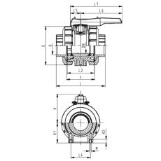 63 mm Kuglehane PVC 546 klæb +GF+ EPDM