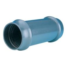Wavin 90 mm PVC-skydemuffe, grå, PN10