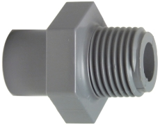 """50-63 mm x 2"""" ABS overgang nippel"""