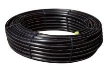 Wavin 40 mm PE80 PN10 SDR11 rør, sort/brun, 50 m, EN 12201