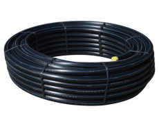 Wavin 50 mm PE80 PN10 SDR11 rør, sort/blå, 50 m