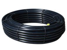 Wavin 90 mm PE80 PN10 SDR11 rør, sort/blå, 50 m