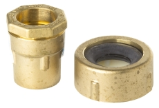 """Isiflo 40 mm x 1.1/4"""" murgennemføring med muffe og pakning"""