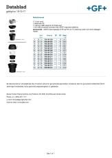 +GF+ 40-32 mm Reduktionssæt til topanboringsbøjle
