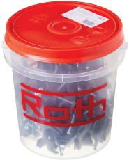 Roth klammer 25 mm incl. skruer, 1 spand indeholder 100 stk.
