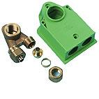 """Uponor Smart Aqua koblingsdåse PEX IV NKB DR 15x2,5-1/2""""FT-1"""