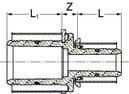 Uponor S-Press muffe reduktion PPSU 40-32