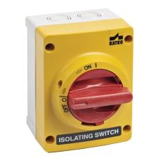 Sikkerhedsafbryder 20A 4P gul/rød KUM416U-YR