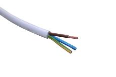 Downlightkabel H05V2V2-F 3G1,5 mm² hvid R100