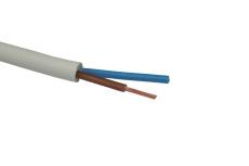 Downlightkabel H05V2V2-F 2x1,5 mm² hvid R100