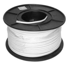 Antennekabel Ø6,9, DG136, hvid S100