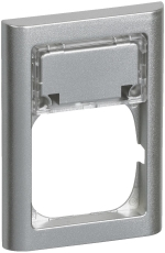 Fuga Ramme 63 Softline 1,5M med tekstmodul stålmetallic