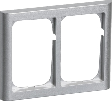 Fuga Ramme 63 Softline 2x1,5M vandret stålmetallic