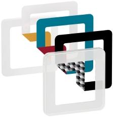 Fuga Choice designramme 1M frosted inklusiv 6 farvevalg
