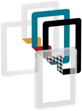 Fuga Choice designramme 1,5M transparent inklusiv 6 farveval