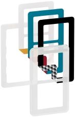 Fuga Choice designramme 2M frosted inklusiv 6 farvevalg