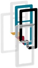 Fuga Choice designramme 2,5M transparent inklusiv 6 farveval