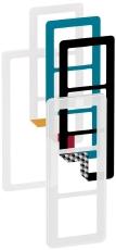 Fuga Choice designramme 3M frosted inklusiv 6 farvevalg