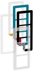 Fuga Choice designramme 3M transparent inklusiv 6 farvevalg