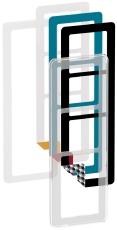Fuga Choice designramme 3,5M transparent inklusiv 6 farveval