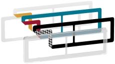 Fuga Choice designramme 2x2M transparent inklusiv 6 farveval