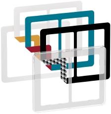 Fuga Choice designramme 2x1,5M transparent inklusiv 6 farvev