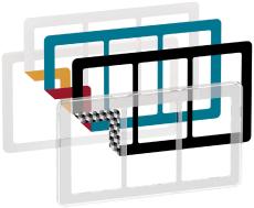 Fuga Choice designramme 3x1,5M transparent inklusiv 6 farvev