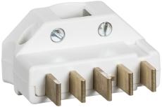 Stikprop 3P+N+J 440V 16A vinkel hvid