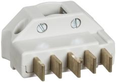 Stikprop 3P+N+J 440V 16A vinkel lysegrå